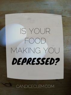 Is your food making you depressed?  Here are three tips to combat mood swings caused by blood sugar roller coasters | candiceclem.com