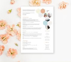 creative resume template with cover letter cv template by