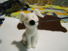 сухое валяние игрушка собачка