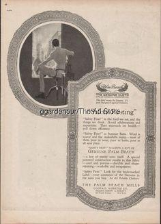 1918 Palm Beach Mills Men's Summer Suit Vintage Fashion Goodall Ad