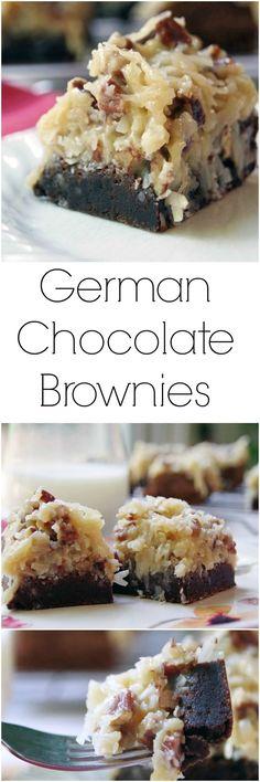 German Chocolate Brownies Recipe