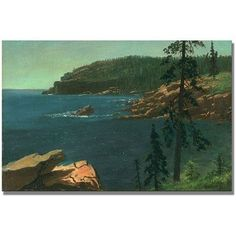 Trademark Fine Art California Coast II Canvas Art by Albert Biersdant, Size: 35 x 47, Multicolor