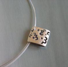 Sterling silver pendant Cutout pendant by mariastudio on Etsy
