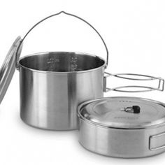 Solo Stove 2 Pot Set: Stainless Steel Companion Pot Set for Solo Stove Campfire