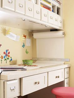 For your kids playroom consider a quartz countertop. It is durable, stain resistant and easy to clean.