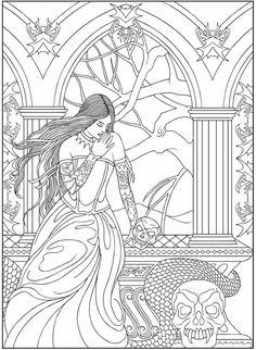 Lucas Publications Vampire Coloring Pages