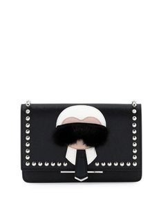 Karlito+Wallet-on-Chain,+Black+Multi+by+Fendi+at+Neiman+Marcus.