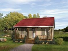 Tiny Romantic Cottage House Plan | ... plans – small cabin plans . ORDER our Cabins and Cottage House Plan