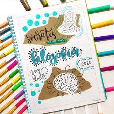 By:@azastudy7   Formas De Marcar Cuadernos, Marcas De Bullet Journal Cover Ideas, Bullet Journal Banner, Bullet Journal Notes, Bullet Journal School, Art Journal Pages, Tumblr Art Drawings, Overlays Tumblr, Diy Notebook, Lettering Tutorial