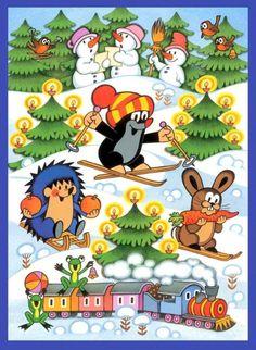 Czech christmas cards - Zdeněk Miler: Little Mol