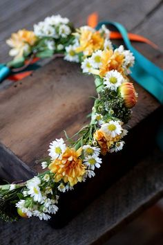 Floral halo - sweet and petite, with chamomile