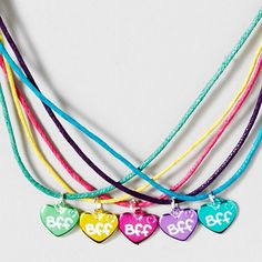 Bright  colorful BFF Necklace Pack for all your best friends  - http://www.pinterestshopping.com