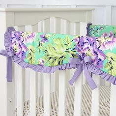 Purple Paige Crib Rail Cover