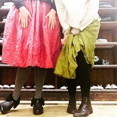 #regram from the adorable @peaandhamsoup Pip and Han  wearing @mettamelbourne #doublesilk skirts, @franciemelbourne #dollsjumper #minaperhonen  #woollined #boots #officinecreative #boots