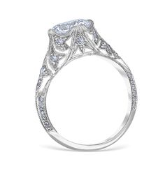 8902:   Pave' Especial Engagement Ring Mounting