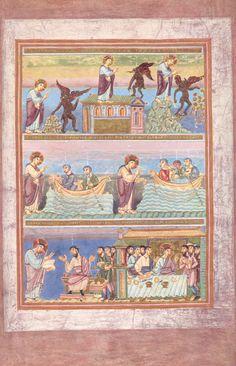 Codex Aureus Epternacensis (Goldenes Evangeliar), Prunkhandschrift Date um Illuminated Letters, Illuminated Manuscript, Book In Latin, Celtic Mythology, Book Of Kells, Triple Goddess, Book Of Hours, Irish Dance, Chalk Pastels