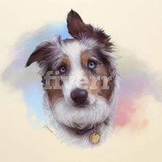 For only $10, fantuzura will draw Realistic Art Portrait of your cat, dog or any pets. | Everything is very simple!Send me your pet photo and Get the lovely ART Portrait in MY UNIQUE Style!I call this my style of Digital Watercolor. | On Fiverr.com