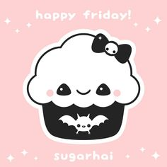 Happy Friday cupcake from sugarhai.