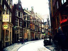 Amsterdam Zeedijk in Winter