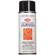 Amazon.com: Grumbacher Hyplar Gloss Varnish Spray for Acrylic Paintings, 11 Oz. Can, #547: Arts, Crafts & Sewing
