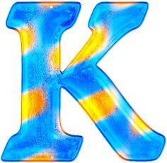 Alfabeto gratis en tonos azules y dorado.   Oh my Alfabetos!