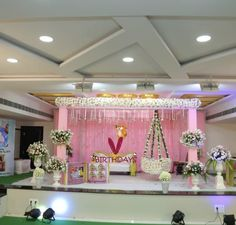 Colourful floral decor for cradle ceremony. 21st Birthday Decorations, Kids Party Decorations, Indian Wedding Decorations, Festival Decorations, Ceremony Decorations, Baby Shower Decorations, Ideas Party, Flower Decorations, Wedding Set Up