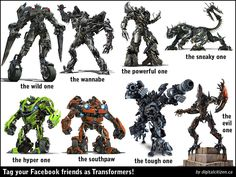 Transformers G1 and Movie Facebook Friends Tagging Meme Posters – Digital Citizen