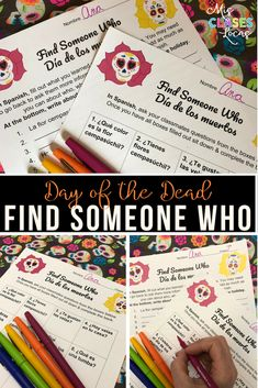 Find Someone Who: Día de los muertos /Day of the Dead in Spanish class Dead In Spanish, High School Spanish, Spanish 1, Spanish Teacher, Spanish Class, Teaching Spanish, Book Of Life, The Book, Comprehensible Input