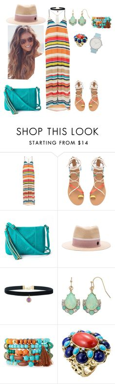 """""""Untitled #357"""" by cuevas-stefanny ❤ liked on Polyvore featuring Alice + Olivia, Maison Michel, LC Lauren Conrad, NAKAMOL and The Horse"""