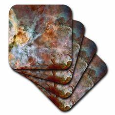 3dRose Galaxy and Nebula - Eta Carinae Nebula by Nasa Hubble Telescope, Soft Coasters, set of 4 Ceramic Coasters, Tile Coasters, Eta Carinae, Carina Nebula, Whirlpool Galaxy, Makeup Wipes, Andromeda Galaxy, Food Storage Containers, Nasa