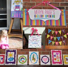 "Photo 1 of 56: Arts & Crafts / Birthday ""Meryn's Create + Celebrate Art Party"" | Catch My Party"