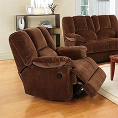 ACME Oliver Chocolate Corduroy Glider Recliner Review  Https://recliningloveseats.review/acme