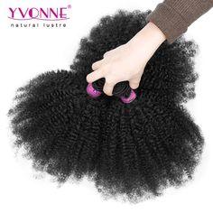 3 개/몫 브라질 아프리카 곱슬 곱슬 인간의 머리, 100% 처리되지 않은 처녀 머리 직조, 8-28 인치 Aliexpress 이본 헤어 제품