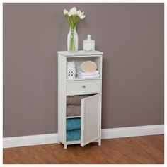 bathroom storage cabinet with drawer u0026 shelf