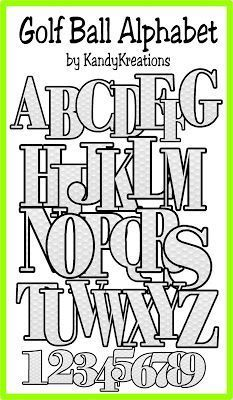 This Free Alphabet Has The Numbers And Capital Letters A Z With Dimpled Golf Ball Background How Awesome Is That For