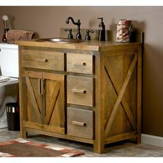Reclaimed Barn Wood Vanity made from real reclaimed barnwood