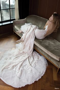 berta bridal fall 2016 strapless lace wedding dress (16 103) bv illusion back