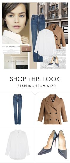 """""""Spring simplicity"""" by jan31 ❤ liked on Polyvore featuring Brock Collection, Rochas, Equipment, Christian Louboutin, Yves Saint Laurent, Folio and TIBI"""