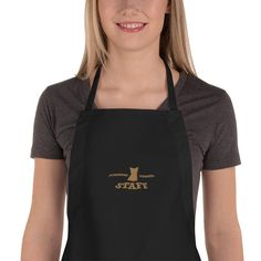 A new apron for Yorkshire Terrier lover and parent with embroidered text and design, from our collection Yorkie Staff. Palmetto Moon, Embroidered Apron, Funny Aprons, How To Make Coffee, Making Coffee, Chef Apron, Long Ties, A Christmas Story, Fabric Weights
