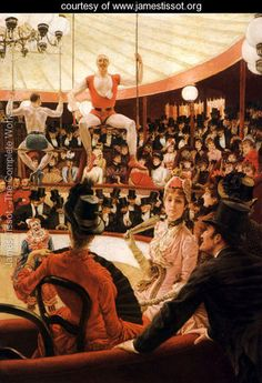Women of Paris, The Circus Lover - James Jacques Joseph Tissot - www.jamestissot.org