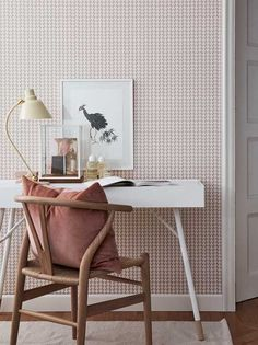 Wall Vision Arne Geometric Wallpaper In Blush - The Wall Vision Arne Geometric Wallpaper adds a lovely contemporary touch to your home décor. Featuring a collection of shapes that move together to form a wave print that is full of motion. Go Wallpaper, Wallpaper Online, Geometric Wallpaper, Wallpaper Borders, Salon Interior Design, Contemporary Wallpaper, Arne Jacobsen, Room Set, Hygge
