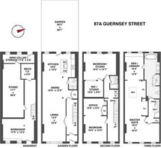 1000 images about brownstone floorplans on pinterest for Brownstone building plans
