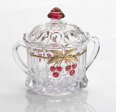 "2 Mosser Glass American Girl Doll Size Cherry Thumbprint Bowl 2 1//4/"""