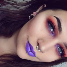 """Sandra on Instagram: """"I had a decent brow day today. Brows: @anastasiabeverlyhills dipbrow Ebony. Eyes: @makeupgeekcosmetics Peach Smoothie & Bitten, @makeupstore Sunset, @meltcosmetics Love Sick, @colourpopcosmetics Dare, @isadoraofficial Lavender eye pencil, @nyxcosmetics Forget Me Not Color Mascara and @ardell_lashes 206. Lips: @makeuprevolution velvet lip laqcuer Depravity."""""""