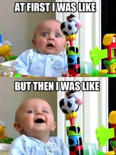 this is the funniest thing ever! video on youtube of this baby is hilarious!
