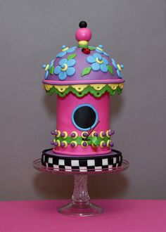 Birdhouse Whimsy by Whimsy Cakes, via Flickr
