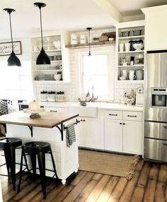 A farmhouse kitchen island is the ideal means to create the topic of the kitchen more authentic. When you have the size, you can find a number of unique varieties of country kitchen islands available…MoreMore #KitchenRemodeling