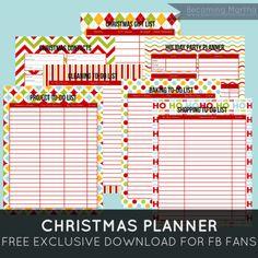 Becoming Martha: Christmas Planner {Free Printable} This will be helpful. Christmas Planner Free, Holiday Planner, Christmas Planning, Christmas Printables, Christmas Projects, Holiday Fun, Christmas Holidays, Christmas Ideas, Holiday Ideas