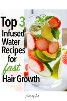 New Hair Growth, Healthy Hair Growth, Hair Growth Recipes, Hair Growth Smoothie Recipes, How To Grow Your Hair Faster, Oil For Hair Loss, Foods For Hair Loss, Infused Water Recipes, Hair Loss Shampoo
