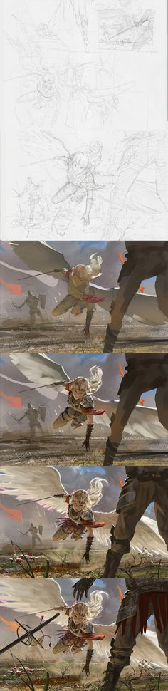 Archangel - Steps by algenpfleger on deviantART via cgpin.com